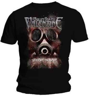 Bullet For My Valentine Unisex Tee Temper Temper Gas Mask M