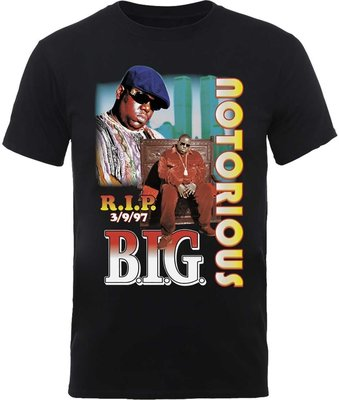 Biggie Smalls Unisex Tee RIP Collage L