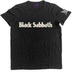 Black Sabbath Unisex Fashion Tee Logo & Daemon (Applique Motifs) Black