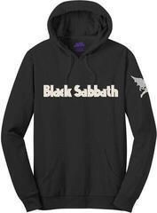 Rock Off Black Sabbath Unisex Pullover Hoodie Logo & Daemon (Applique Motifs) Black