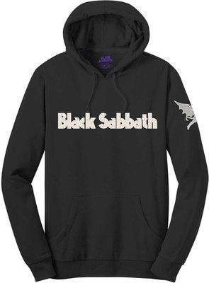 Black Sabbath Unisex Pullover Hoodie Logo & Daemon (Applique Motifs) L