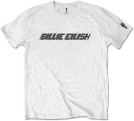 Billie Eilish Unisex Tee Black Racer Logo (Sleeve Print) White
