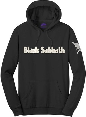 Black Sabbath Unisex Pullover Hoodie Logo & Daemon (Applique Motifs) S