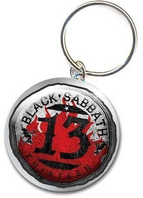Black Sabbath Standard Keychain 13 Flame Circle