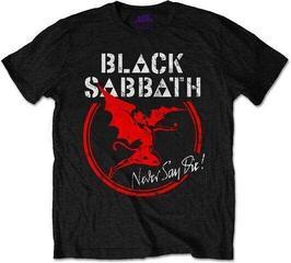 Black Sabbath Unisex Tee Archangel Never Say Die Black