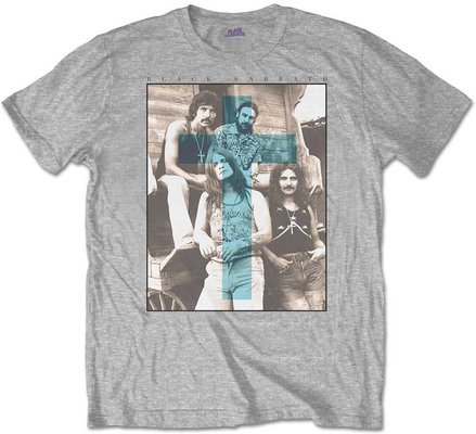 Black Sabbath Unisex Tee Blue Cross L