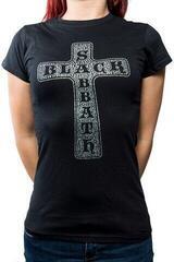 Black Sabbath Ladies Fashion Tee Cross (Diamante) Black