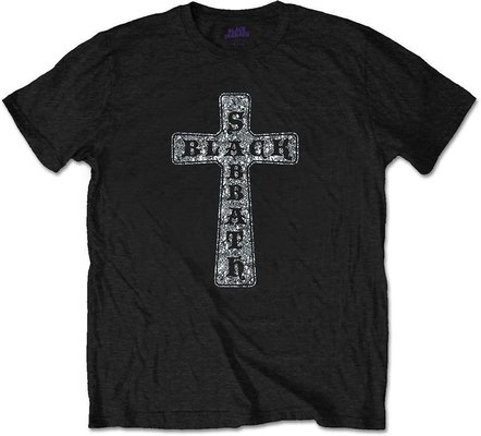 Black Sabbath Unisex Tee Cross (Diamante) M