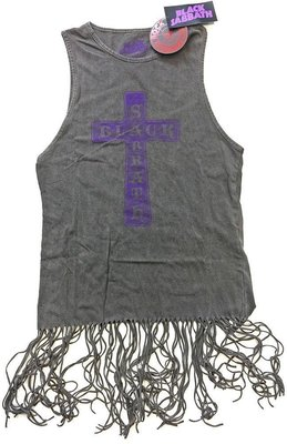 Black Sabbath Tee Dress Vintage Cross (Tassels) M