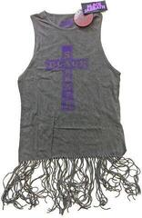 Black Sabbath Ladies Tee Dress Vintage Cross (Tassels) Grey