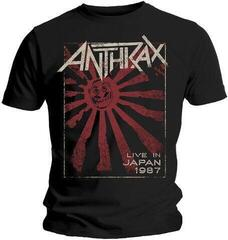 Anthrax Unisex Tee Live in Japan Black