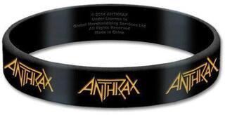 Anthrax Gummy Wristband Logo