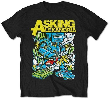 Asking Alexandria Unisex Tee Killer Robot XL