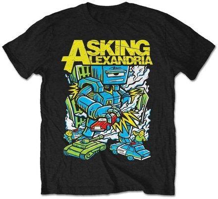 Asking Alexandria Unisex Tee Killer Robot XXL
