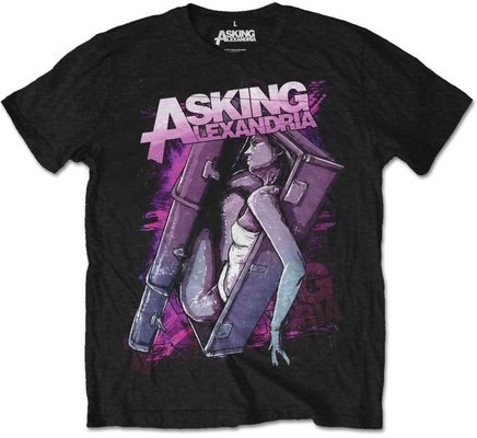Asking Alexandria Unisex Tee Coffin Girl (Retail Pack) S