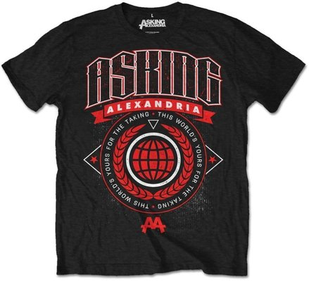 Asking Alexandria Unisex Tee This World (Retail Pack) L