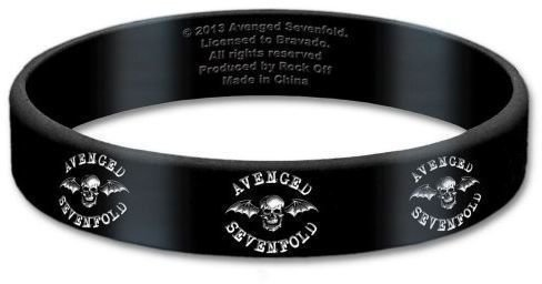 Avenged Sevenfold Gummy Wristband Death Bat