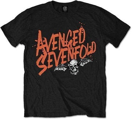 Avenged Sevenfold Unisex Tee Orange Splatter S