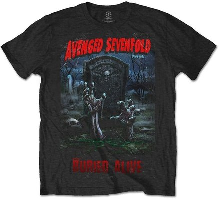 Avenged Sevenfold Unisex Tee Buried Alive Tour 2012 (Back Print) S