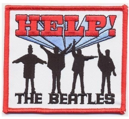 The Beatles Standard Patch Help! (Iron On)