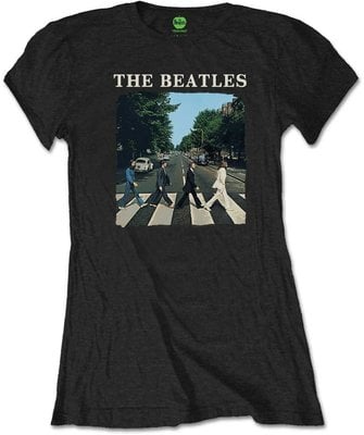 The Beatles Tee Abbey Road & Logo Black (Retail Pack) S