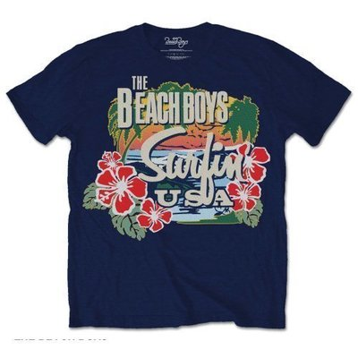 The Beach Boys Unisex Tee Surfin USA Tropical L