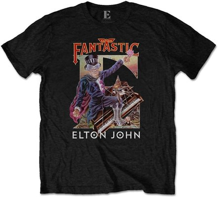 Elton John Unisex Tee Captain Fantastic L