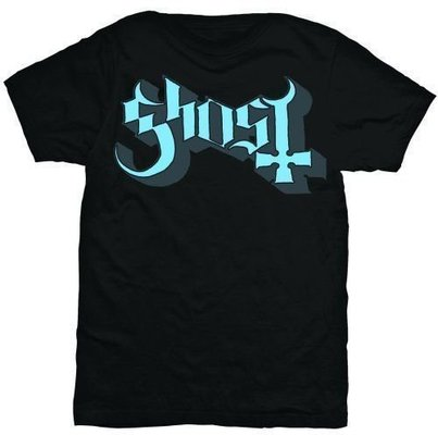Ghost Keyline Logo Unisex T-Shirt Blue/Grey L