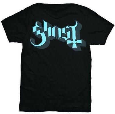 Ghost Keyline Logo Unisex T-Shirt Blue/Grey M
