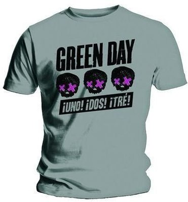 Green Day Unisex Tee Three Heads Better Than One S