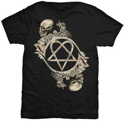 HIM Unisex Tee Bone Sculpture (Back Print) M