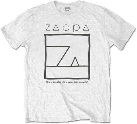 Frank Zappa Unisex Tee Drowning Witch White L