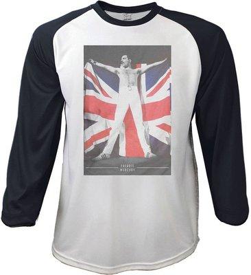 Freddie Mercury Unisex Raglan Tee Flag L