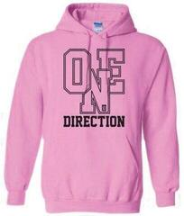 One Direction Ladies Pullover Hoodie Athletic Logo Pink