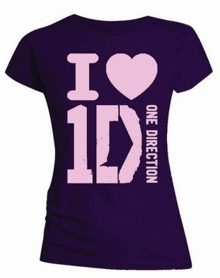 One Direction Tee I Love with Skinny Fitting M