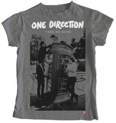 One Direction Tee Take Me Home Album with Skinny Fitting L