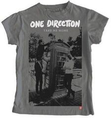 One Direction Ladies Tee Take Me Home Album with Skinny Fitting Heather Grey