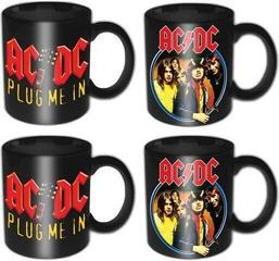 AC/DC 4 Piece Mini Mug Set Devil Angus & Plug Me In (Individually Boxed)