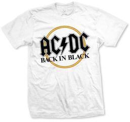 AC/DC Unisex Tee Back in Black White