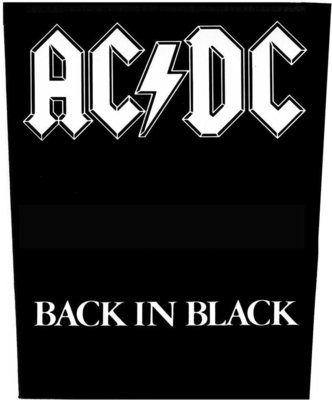 AC/DC Back Patch Back in Black