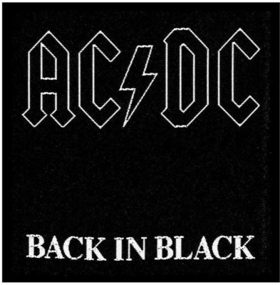 AC/DC Standard Patch Back in Black (Loose)