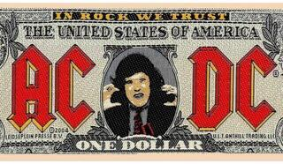 Rock Off AC/DC Standard Patch Bank Note (Loose)