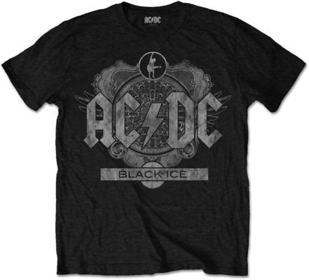 AC/DC Unisex Tee Black Ice S