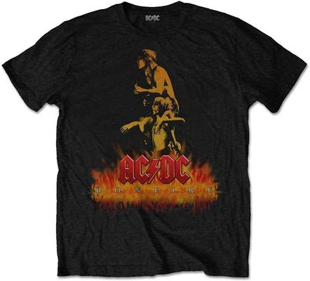 AC/DC Unisex Tee Bonfire S