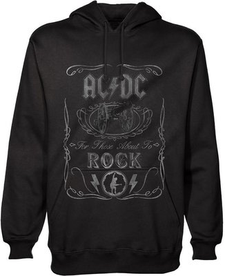AC/DC Unisex Pullover Hoodie Cannon Swig L