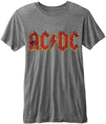 AC/DC Unisex Fashion Tee Logo (Burn Out) L