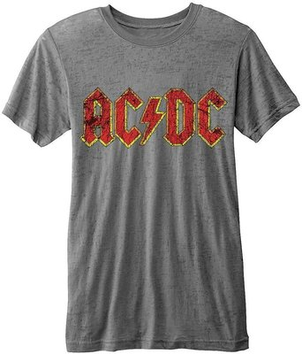 AC/DC Unisex Fashion Tee Logo (Burn Out) XL