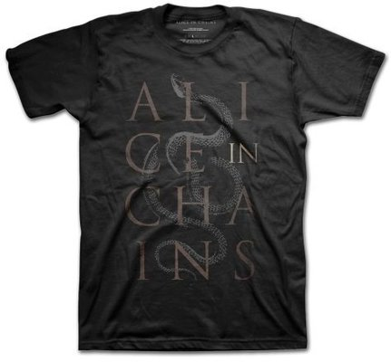 Alice in Chains Unisex Tee Snakes L
