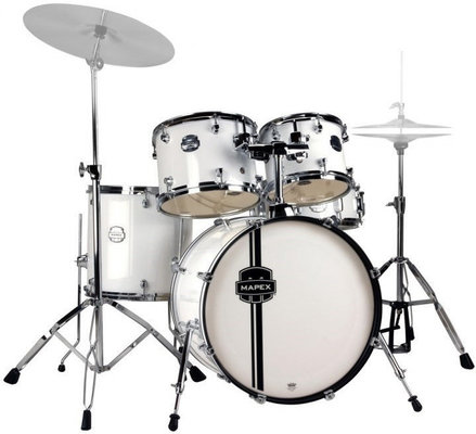 Mapex Voyager 5 Piece Jazz Drum Set Snow White