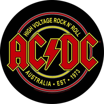 AC/DC Back Patch High Voltage Rock N Roll